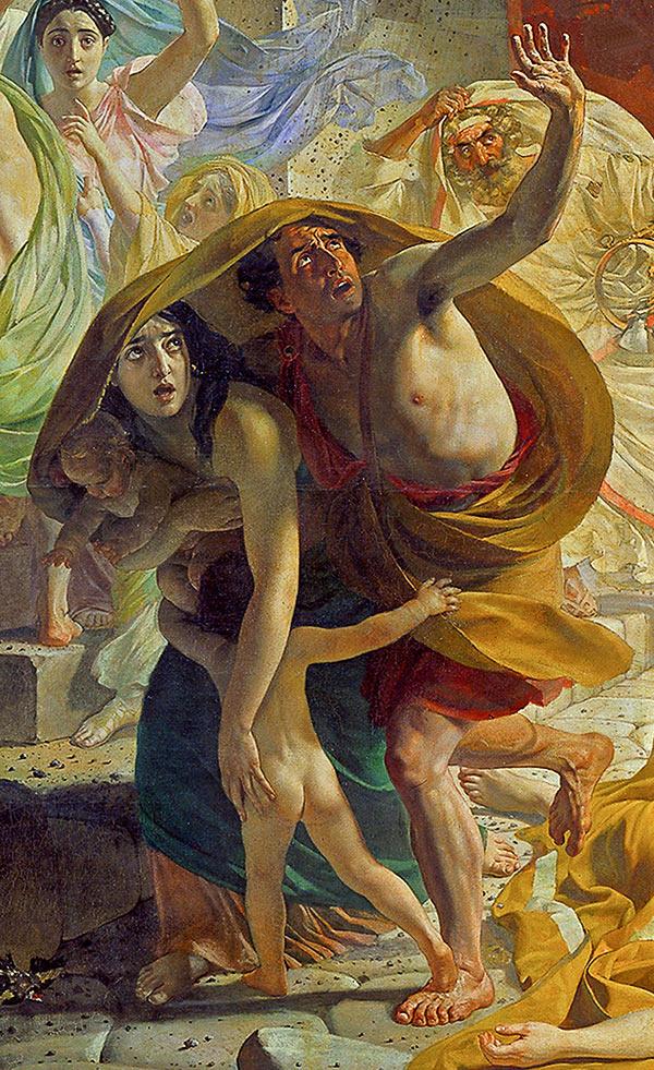 Брюлов Последний день Помпеи (фрагмент)